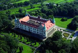 Zamek Baranów Sandomierski z lotu ptaka